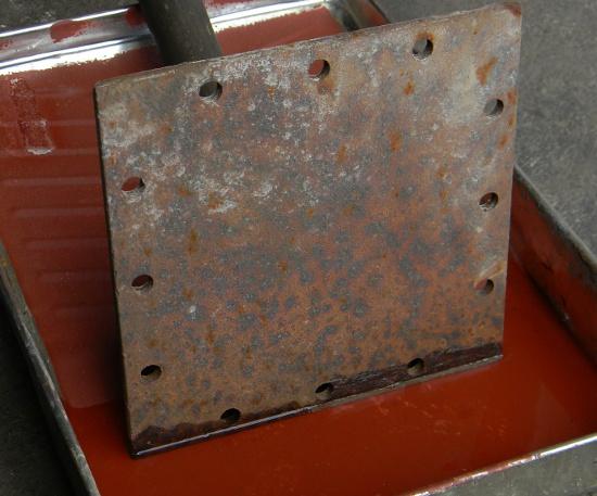 Water climbing rusted metal