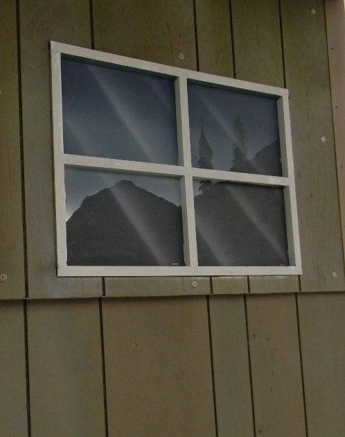 Faux cabin window