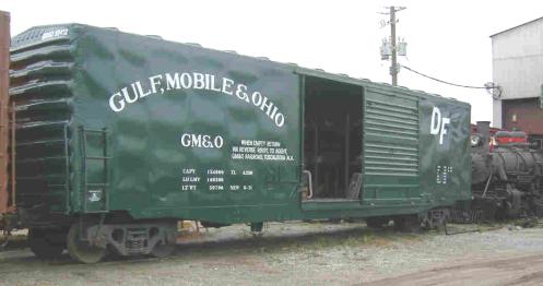 Green boxcar