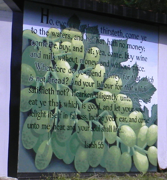 Grapes with verse