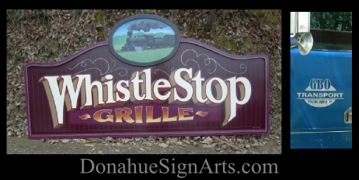 Very old school hand painted sign
