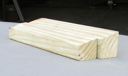Forms 3 inch wide angled board